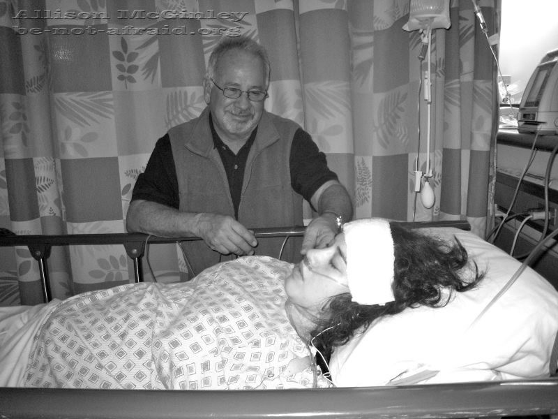 Family in recovery room, A father's love