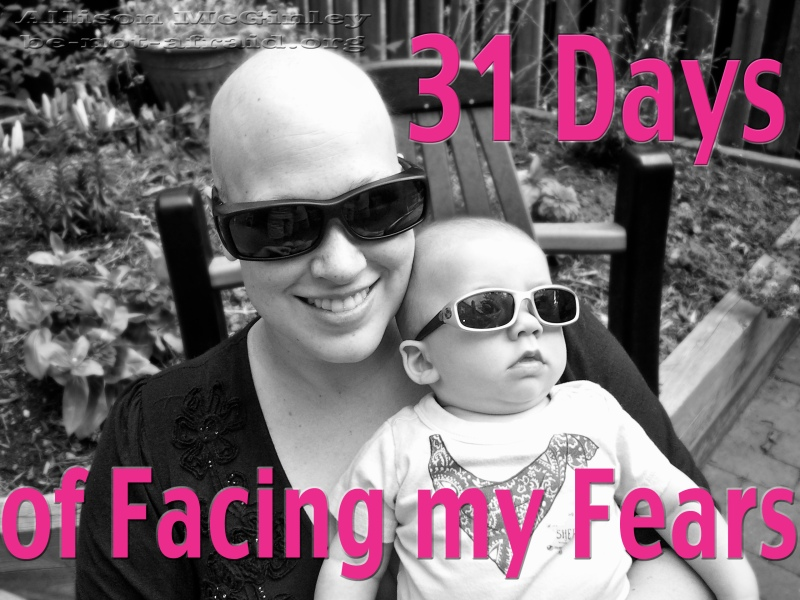 Facing my fears, cancer, bald, baby