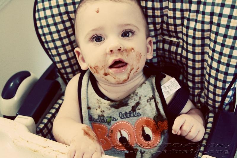 Baby Eating Prunes