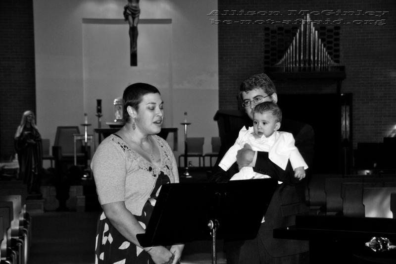 Woman Singing in Church