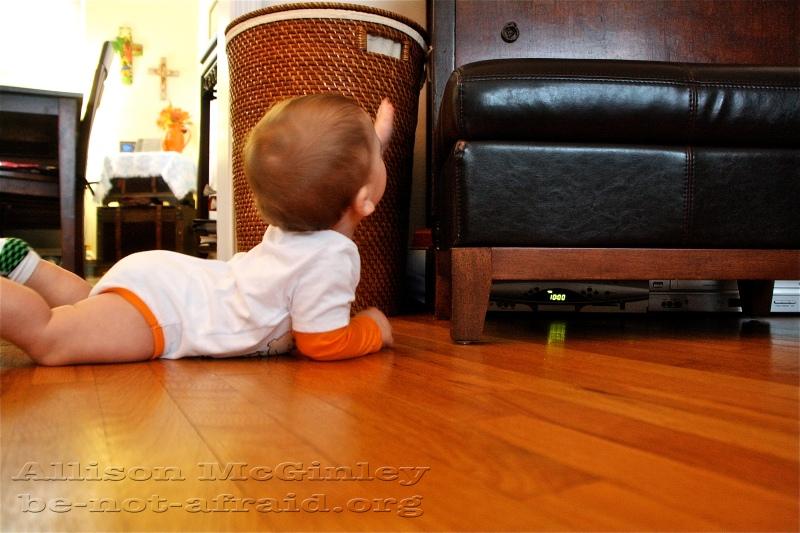 Baby and ottoman