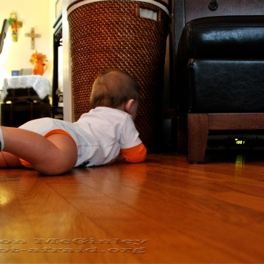 Baby and DVD player