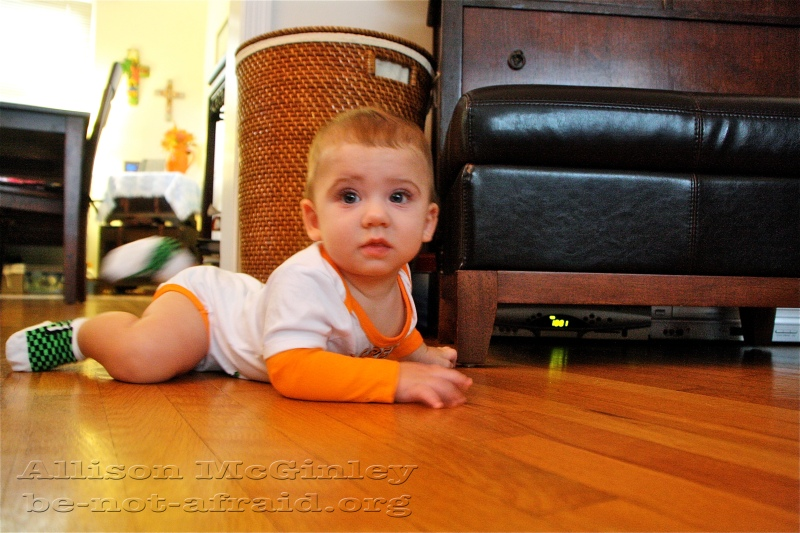 Baby in living room