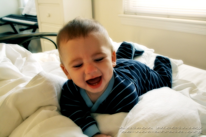 Happy Baby in the Morning