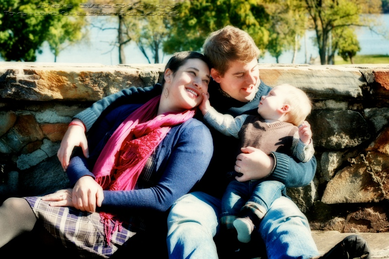 Happy Family in Old Town Alexandria