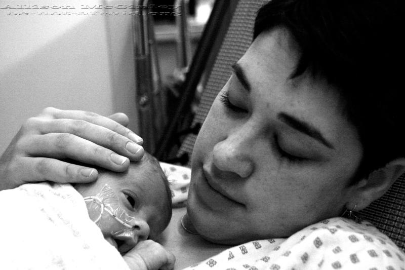 Mom and Baby in NICU